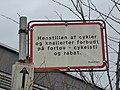 No bicycle parking sign at Gladsaxe Ringvej 02.jpg