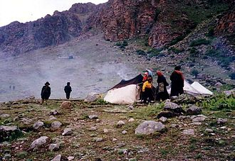 Nomad camp above Tsurphu Gompa in 1993 Nomad camp above Tsurphu Gompa 2.JPG