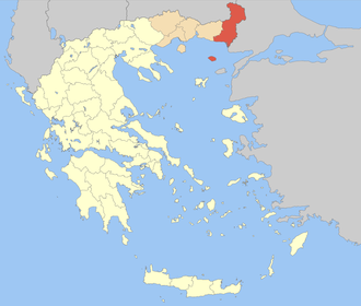 Evros (regional unit) - Image: Nomos Evrou