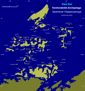 Nordenskiöld Archipelago - Nordenskiöld Archipelago including adjacent Siberian coastal islands.