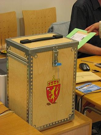 2007 in Norway - Image: Norsk stemmeurne