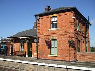 North Weald railway station - Image: North Weald stn building viewed from platform 2012