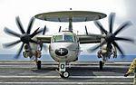 "Northrop Grumman E-2C HE2K Hawkeye CVW-2 USS Ronald Reagan VAW-113 Airborne Early Warning (AEW) ""The World Famous Black Eagles"" (13980139290).jpg"