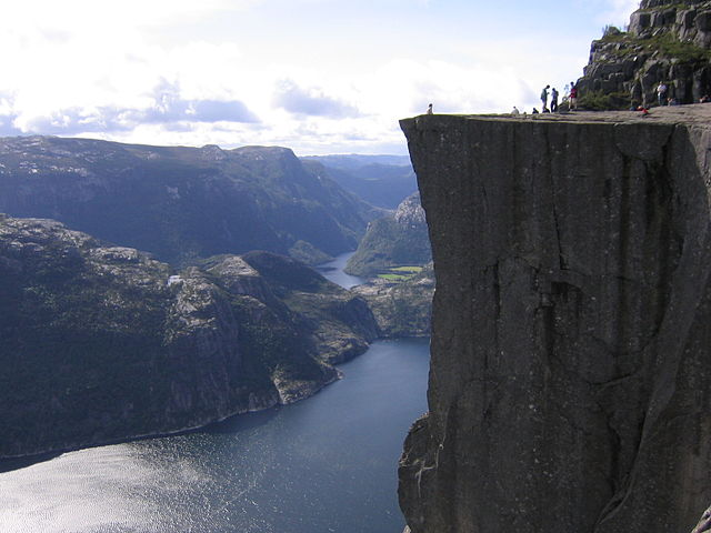 Pulpit Rock (Preikestolen) in Norway. Photo by Aconcagua.