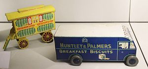 Timeline of Reading, Berkshire - Novelty biscuit tins (c. 1937)