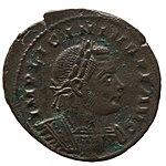 Nummus de Licinius I (YORYM 2001 10248) obverse.jpg