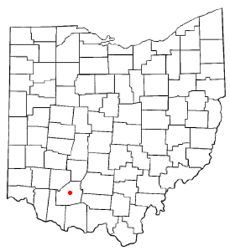Hillsboro, Ohio - Image: OH Map doton Hillsboro