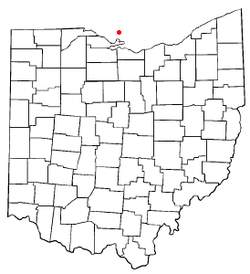 Location of Put-in-Bay, South Bass Island, Ohio