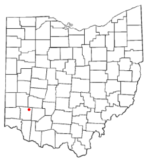 Waynesville, Ohio - Location of Waynesville, Ohio