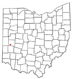 Location of West Milton, Ohio