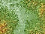 Obanaza Basin Relief Map, SRTM-1.jpg