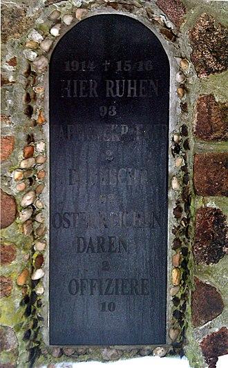 Łazy - Obelisk - Tablet