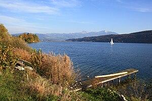 Bollingen - ''Obersee'' (upper Lake Zürich) at Bollingen, Benken in the background