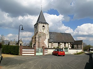 Ochancourt - Cemetery and church