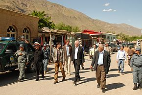 Officials Visit Bazarak District, Panjshir Province, Afghanistan.jpg