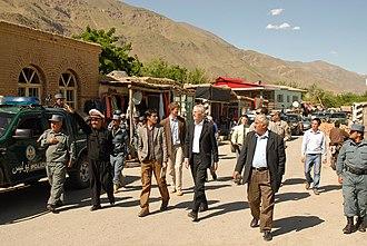 Bazarak - Officials visit Bazarak District in 2011