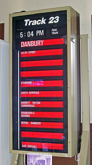 Danbury Branch - A former Solari display for the branch used at Grand Central Terminal; now at the Danbury Railway Museum.