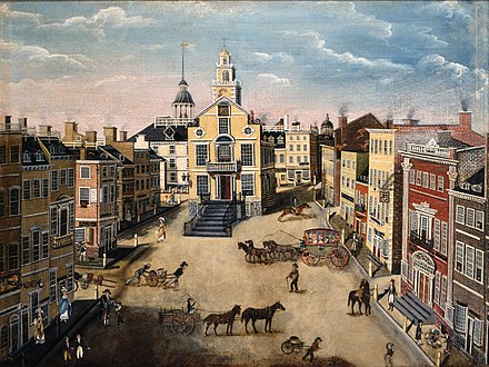 State Street, 1801 Old State House and State Street, Boston 1801.jpg