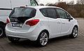 Opel Meriva 1.4 Design Edition (B) – Heckansicht, 11. März 2012, Heiligenhaus.jpg