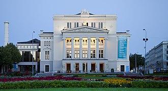 Latvian National Opera - Image: Opera Nacional, Riga, Letonia, 2012 08 07, DD 04