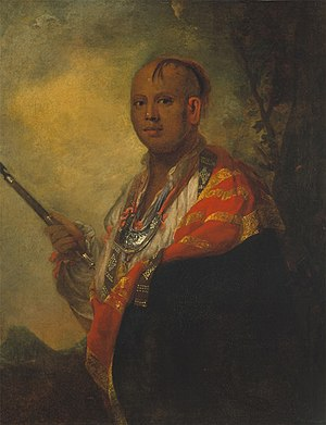 Timberlake Expedition - Portrait of Ostenaco by Sir Joshua Reynolds; 1762