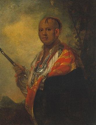 Battle of Echoee - Portrait of Ostenaco  by Sir Joshua Reynolds, 1762.