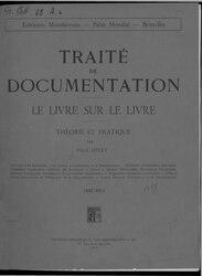 Paul Otlet: Traité de Documentation