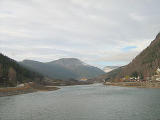 Otta (river) - The Otta River near the town of the same name