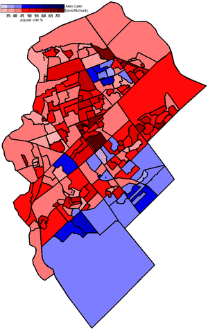 Ottawa South - 2006 election popular vote map by polling division