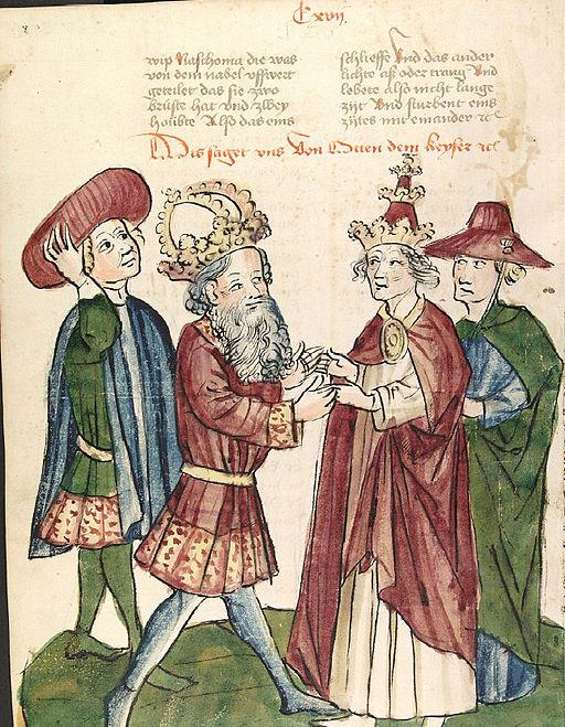 Otto I begegnet Papst Johannes XII