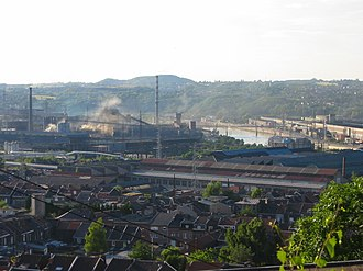 Wallonia - Steelmaking along the Meuse River at Ougrée, near Liège, on the sillon industriel
