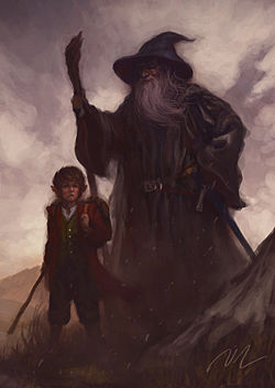 Over Hill - Bilbo and Gandalf by Joel Lee.jpg