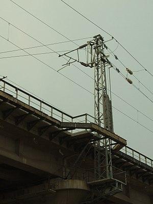 Overhead lines on the railway