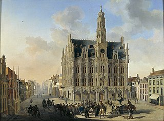 Het stadhuis te Oudenaarde