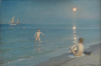 P.S. Krøyer - Boys Bathing at Skagen. Summer Evening - Google Art Project.jpg