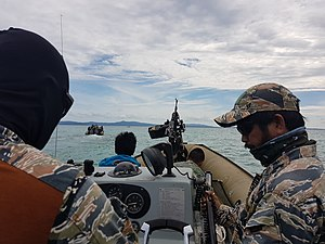 Naval Special Operations Group - The Philippine Naval Special Operations Group in a mapping and deployment-extaction mission during the Mindanao declaration of Martial law in the Philippines for the Marawi crisis.