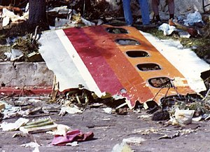 PSA Flight 182 - Wreckage of PSA 182 after the crash