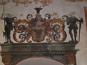 Vojtěch I of Pernstein - Wall decoration in Pardubice Castle