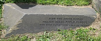 Pablo Fanque - Grave marker of William Darby