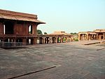 Fatehpur Sikri: Pachisi Court with Dalans