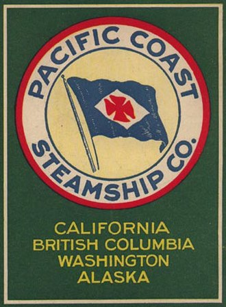 Pacific Coast Steamship Company - Image: Pacific Coast SS Co flyer (cropped)