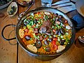 Paella de Carne- meat paella, pork belly, chorizo, blood sausage, duck confit, beef cheek, garlic aioli, bomba rice.jpg
