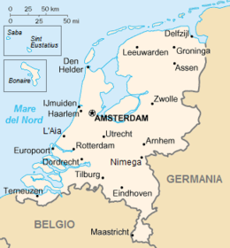 Paesi Bassi - Mappa