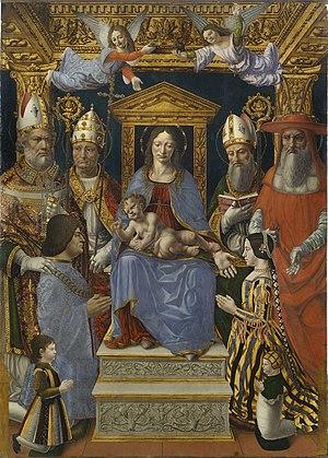 Beatrice d'Este - Image: Pala sforzesca