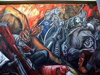 Palacio de Bellas Artes - Mural Katharsis Orozco 1