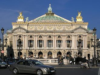 Charles Garnier (architect) - The Palais Garnier in winter.