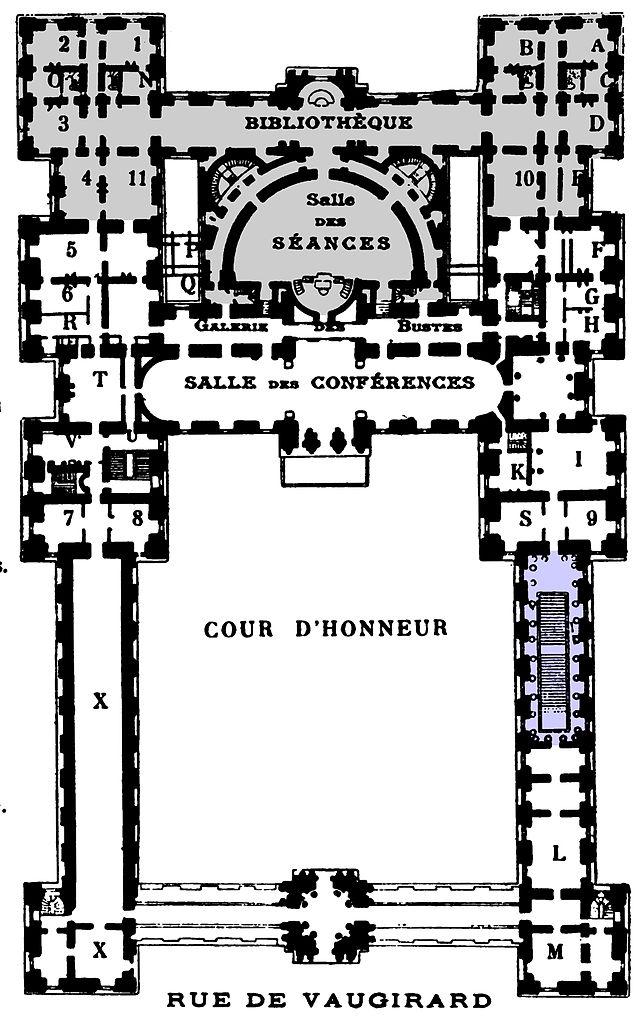 FilePalais Du Luxembourg Plan 1904 Hustin P86