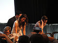 PaleyFest 2011 - Freaks and Geeks-Undeclared Reunion - Linda Cardellini and Sarah Hagan sign for fans (5525056568).jpg