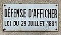 Panneau Défense Afficher Rue Commandant Jean Duhail Fontenay Bois 2.jpg