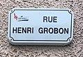 Panneau de la rue Henri Grobon (Miribel) en février 2021.jpg